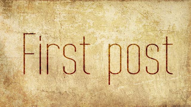 Esimene postitus...